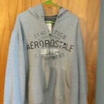 Aeropostale Mens Full Zip Long Sleeve Hoodie Sweatshirt Grey Size X-Large Photo