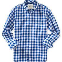 Aeropostale Mens Long Sleeve Gingham Woven Shirt Photo