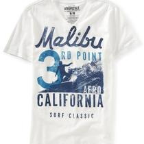 Aeropostale Mens Malibu 3rd Point v-Neck Graphic T Shirt Photo