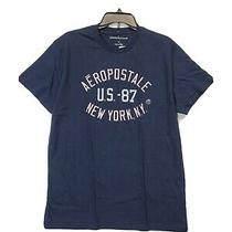 Aeropostale Mens Size Large Blue Graphic Tee T-Shirt New  Photo