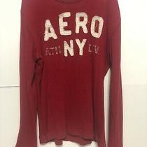 Aeropostale Mens Size Xl Red Spell Out Sweater Thermal Long Sleeve Photo