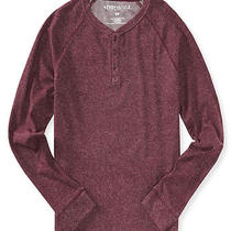 Aeropostale Mens Solid Henley Shirt Photo
