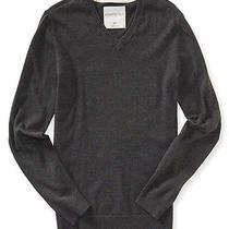 Aeropostale Mens Solid Ribbeed Pullover Sweater Photo