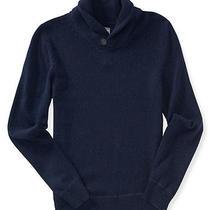 Aeropostale Mens Solid Shawl Neck Sweater Photo