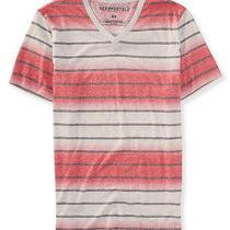 Aeropostale Mens Striped Triblend v-Neck Tee Shirt Photo