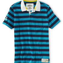 Aeropostale Mens Surf Chasers Rugby Polo Shirt Photo