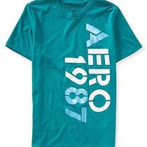 Aeropostale Mens Vert Puff Paint Graphic T-Shirt Photo