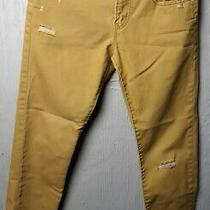 Aeropostale Mustard Bowery Slim Straight Ripped Jeans Pants Men's Size 29/30 Photo