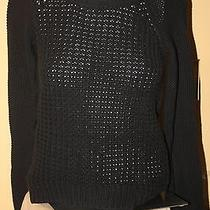 Aeropostale' Nwt Jr. Women's Black Cotton/acrylic Sweater Sz. S Photo