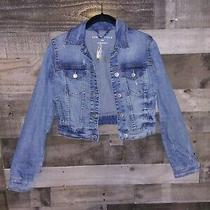 Aeropostale Nwt Woman's Denim Blue Jean Jacket Sz Xs Retail Tag 79 Photo
