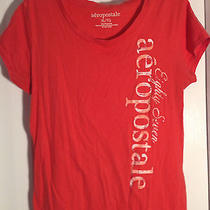 Aeropostale Orange Scoop Neck Cap Sleeve 100% Cotton Tee Size Xl B2 Photo