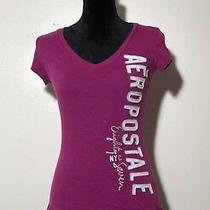 Aeropostale Original Brand Women's Purple Short Sleeve T-Shirt Size S/p Photo