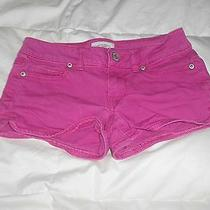 Aeropostale Pink Denim Shorts Size 00  Used Photo