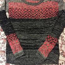 Aeropostale Pink & Gray Sweater Size Medium Photo
