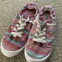 Aeropostale Pink & White Canvas Sneakers Tennis Shoes Spring Women's Size 4.5 Photo