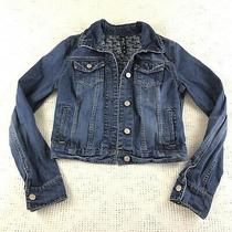 Aeropostale Pretty Little Liars Blue Denim Jean Jacket Sz M Horse Print Lining Photo