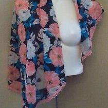 Aeropostale Scarf Floral Multicolor Wrap Shawl 42
