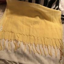 Aeropostale Scarf Wrap Ombre Yellow Fringe 42