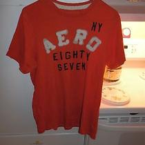 Aeropostale Shirt Size Medium Men's Eighty Seven Ny Shirt Orange Photo