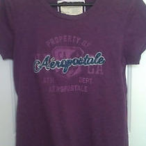 Aeropostale Shirts Womens Purple T-Shirt Sz Large Knit Shirt Photo