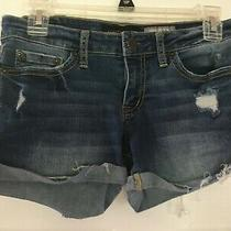 Aeropostale Shorty Stretch Cut Off Style Jean Shorts Juniors Size 2 Photo