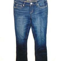 Aeropostale Size 6 Chelsea Boot Cut Blue Jeans Mid Rise Dark Wash Denim Photo