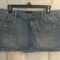 Aeropostale Size 9/10 Mini Denim Skirt Photo