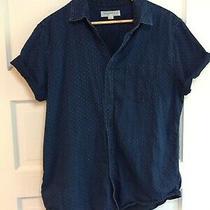 Aeropostale Size L Denim Blue Men Shirt 100% Cotton Rn121726 Ca53201 Photo