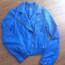 Aeropostale Size Medium Electric Blue Motorcycle Jacket Photo