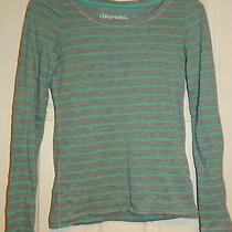 Aeropostale Size Xs Long Sleeve Gray & Turquoise Girls T-Shirt  Photo