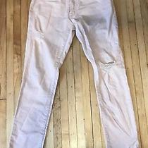 Aeropostale Skinny Jeans Size 29/30 Pink Blush Distressed Denim Mid Rise Photo