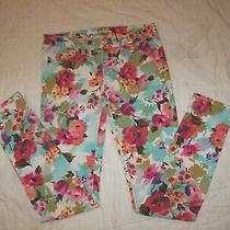 Aeropostale Stretch Jeans - 2 Reg - Ashley Ultra Skinny - Floral Print Denim Photo