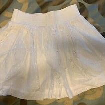 Aeropostale Stretch White Patterned Skirt Size Xs Photo