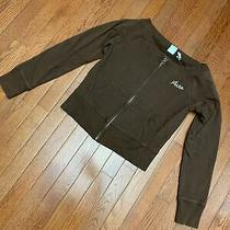 Aeropostale Sweatshirt Large Brown Zip Up Top Brown  L - Photo