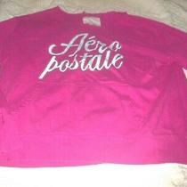 Aeropostale Sweatshirt Pink L/s Graphic Ripped Out Hoodie Sz Jr Xl B 46 L 25 Photo