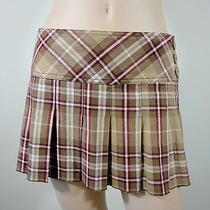 Aeropostale Sz 1/2 Boho Hippie School Girl Pin Up Grunge Plaid Dressy Mini Skirt Photo