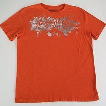 Aeropostale T- Shirt  Mens Small  Orange Photo
