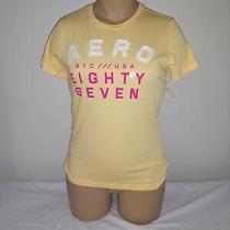Aeropostale T Shirt Women Xl Logo Yellow Nwt Retail 24.50 Photo