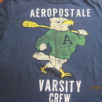 Aeropostale Varsity Crew Distressed Eagle Motif T- Shirt Photo