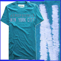 Aeropostale White Embroidered New York City Logo Blue Aqua T Shirt Mens S Photo