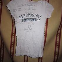 Aeropostale White Graphic Tee Shirt Size S Photo