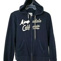 Aeropostale Woman Full Zipper Hooded Hoodie Sweater Jacket Size Xl Blue Photo