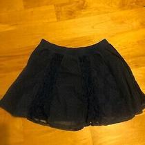 Aeropostale Womans Skirt Size Medium Layered With Lace Mini Skirt Above Knee Blu Photo