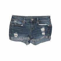 Aeropostale Women Blue Denim Shorts 0 Photo