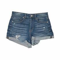Aeropostale Women Blue Denim Shorts 2 Photo