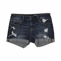 Aeropostale Women Blue Denim Shorts 4 Photo