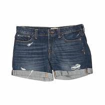 Aeropostale Women Blue Denim Shorts 8 Photo