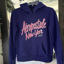 Aeropostale Women Blue Pullover Hoodie (Size m) Photo