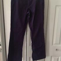 Aeropostale Women Classic Twill Pants  Trousers Sz 6r Navy Low Wst Photo