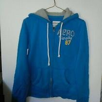Aeropostale - Women /juniors Size Medium - Blue Front Zip Fleece Lined Hoodie  Photo